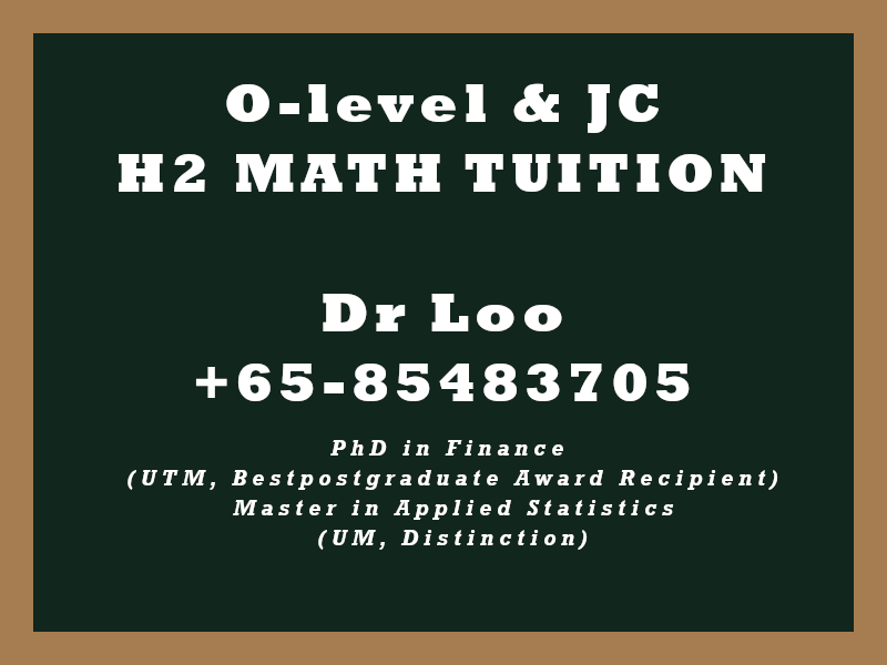 A-level Math Home Tuition Singapore