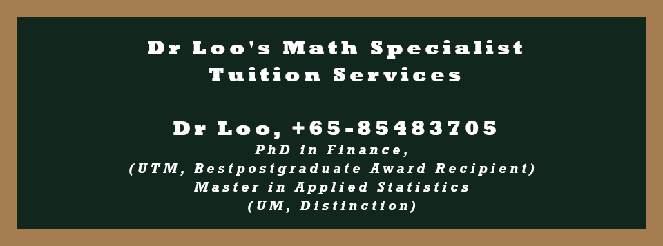 Mathematics and Statistics Home Tuition in  Singapore
