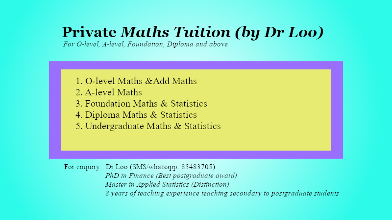 O-level Additional Mathematics Home Tuition Singapore