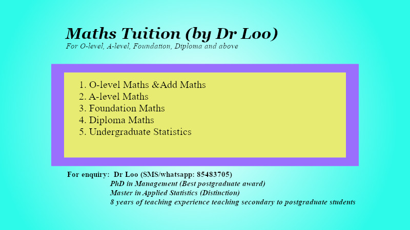 Secondary Math & JC H2 Maths Online Tutoring Singapore