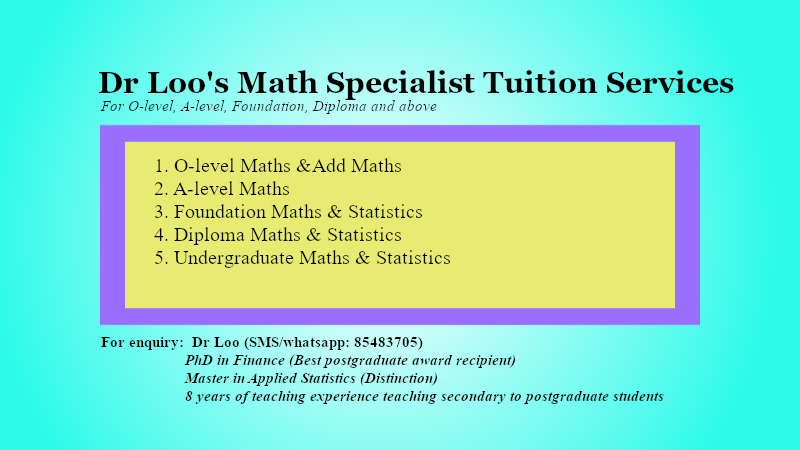 Singapore N-level Mathematics Online Tuition