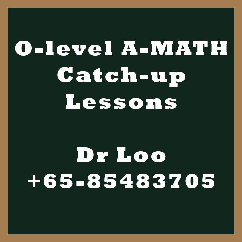 O-level A-Math Year End Catch-up Program 2020