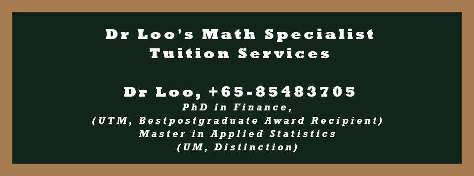 O-level A-math Private Tutor Singapore