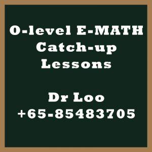 O-level E-Math Year End Catch-up Program 2020