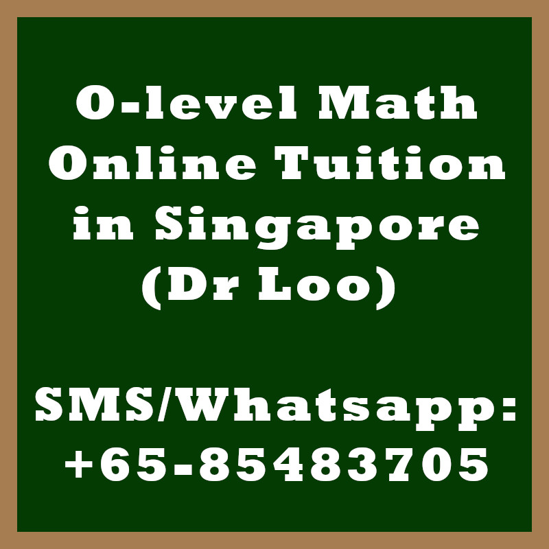 O-level Math Online Tuition Singapore