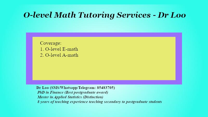 O-level Math Tuition in Singapore
