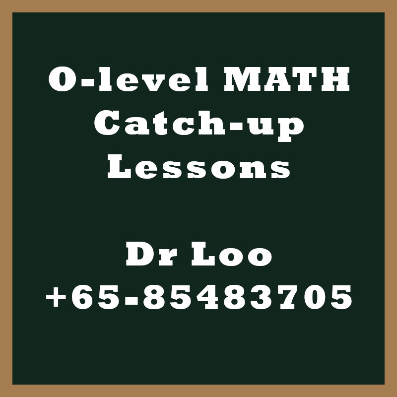 O-level Math Year End Catch-up Program 2020